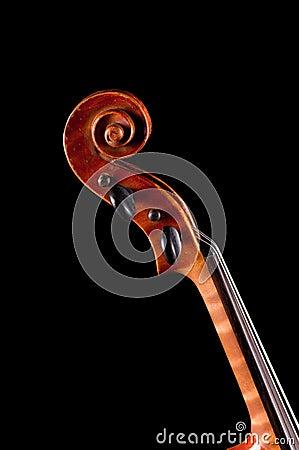 Old Violin  on black background