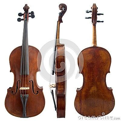 Old violin sides