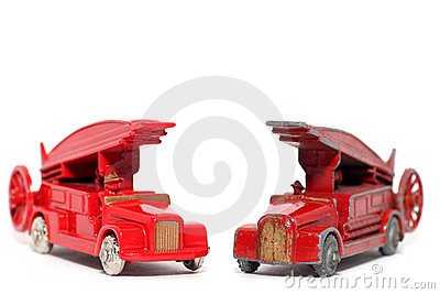 Old vs. new: toy car Denis Fire Engine