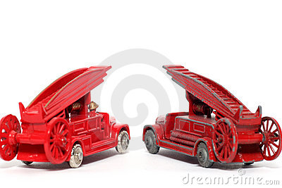 Old vs. new: toy car Denis Fire Engine #2