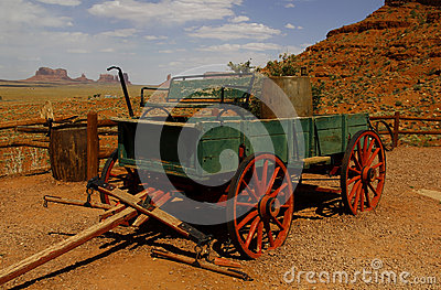Old Wagon at Monument Valley, Utah, USA
