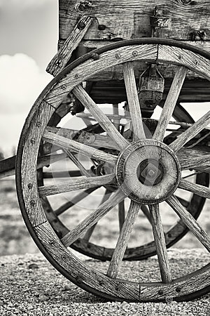 Free Old Wagon Wheels Stock Photo - 28545860