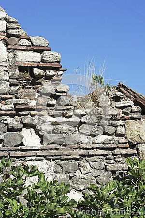 Old wall, raw