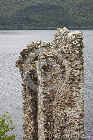 Old wall of Urqhart Castle