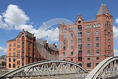 Old warehouses in Hamburg, Germany