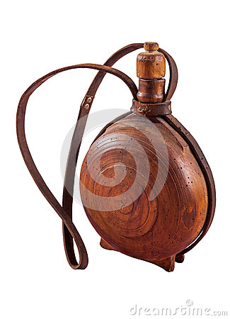 Free Old Water Bottle Made Of Dark Wood - Cutura Stock Image - 60954931