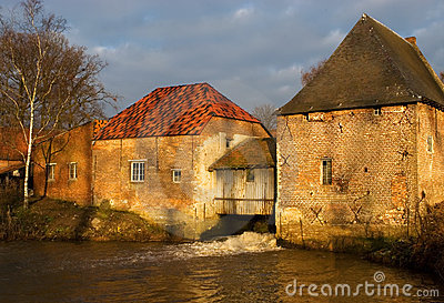 Old water mill building