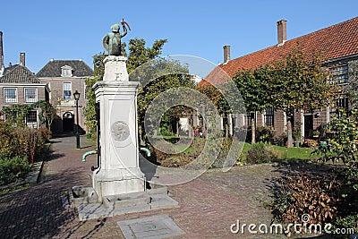 Old water pump in Almshouse Leiden