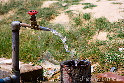 Old water tap
