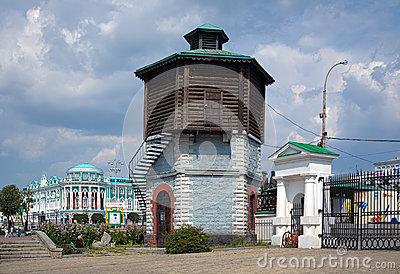 Old Water tower in Yekaterinburg, Russia Editorial Stock Photo