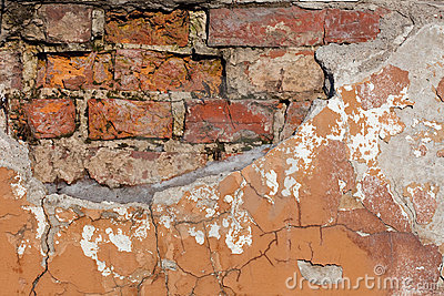 Old weathered brick wall