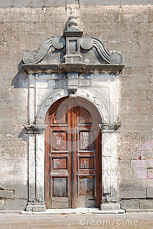 Free Old Weathered Door Of A Small Greek Church Stock Images - 47784134