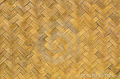 Old weave bamboo wall