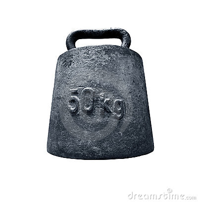 Free Old Weight With Path Royalty Free Stock Photos - 852508