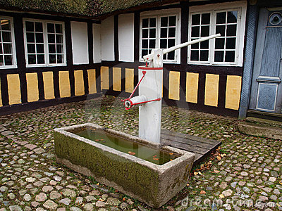 Old well water pump