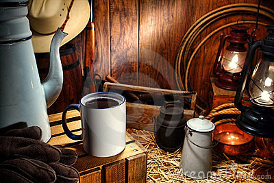Old West Coffee Mug in Antique Western Chuck Wagon