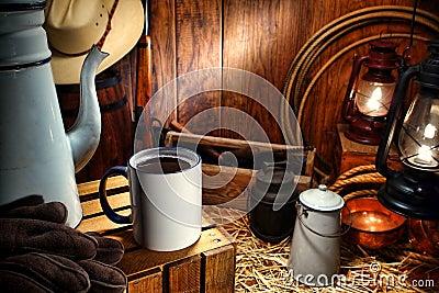 Old West Coffee Mug in Antique Western Chuck Wagon
