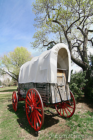 Old West Covered Wagon