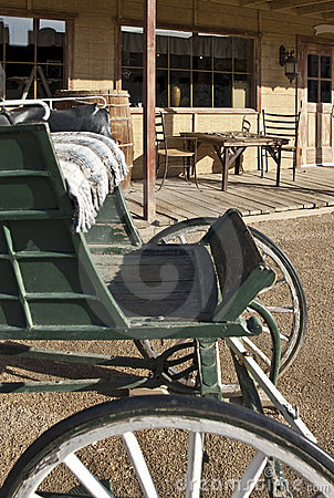 Free Old Western Buggy And General Store Stock Image - 10689511