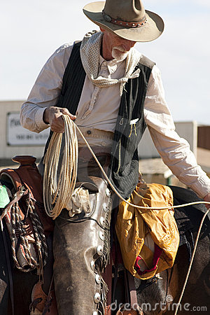 Free Old Western Cowboy Roper Royalty Free Stock Photography - 11809257