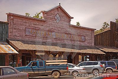 Old Western General Merchandise Store