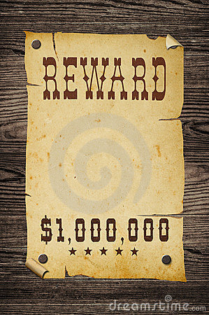 Wanted Sign Reward Stock Photos, Images, & Pictures - 324 Images