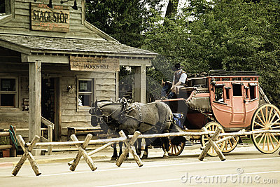 Old western stagecoach