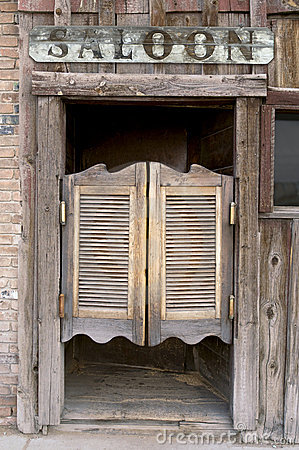 Free Old Western Swinging Saloon Doors Royalty Free Stock Image - 5433356