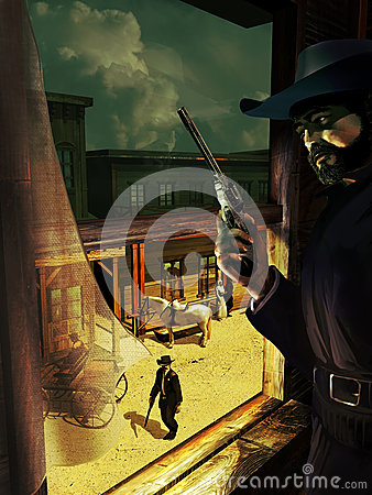 Old west ambush