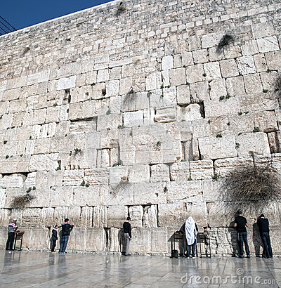 Old western wall in jerusalem Editorial Image