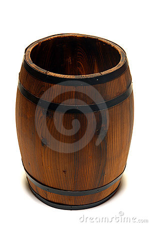 Old Whisky Barrel or Wine Cask Wood Container