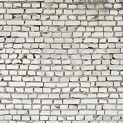 Old White Brick Wall Fragment Stock Photo Image 45408184