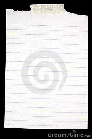 Free Old White Lined Paper. Stock Photography - 6016332