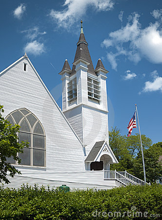 Old white new england church