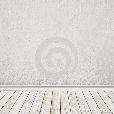 Free Old White Painted Wall And Vintage Wooden Floor, Interior Background Stock Photo - 46999170