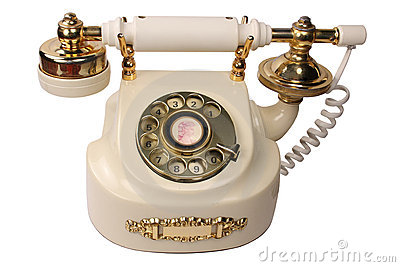 Old White Phone