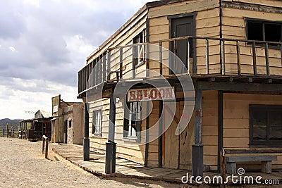 Old Wild West Cowboy Town Saloon USA