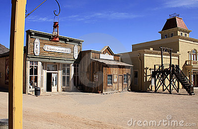 Old Wild West Cowboy Town USA
