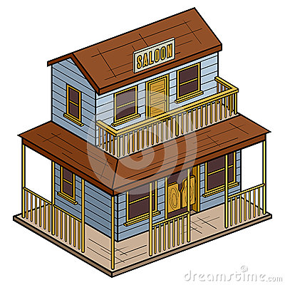 Old Wild West Isometric Saloon