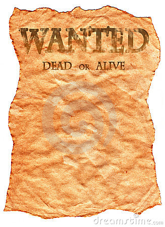 Old Wild West Wanted Poster