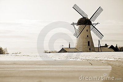 Old windmill in Estonia