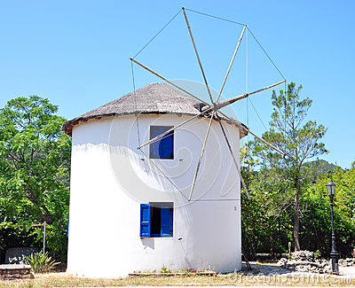 Old windmill in Greece