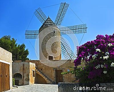 Old windmill, Majorca, Spain