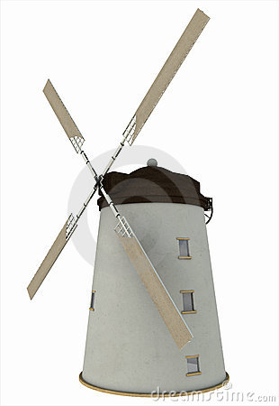 Old Windmill with Sails