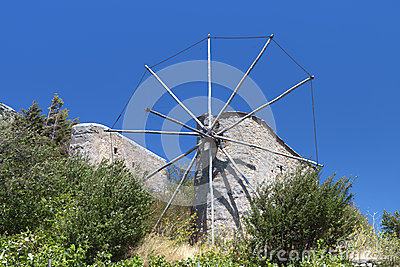 Old windmills at Crete island, Greece