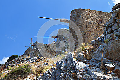 Old windmills at Crete island, Greece