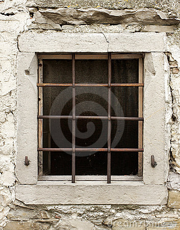 Old window with bars