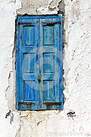 Old window in a Greek island