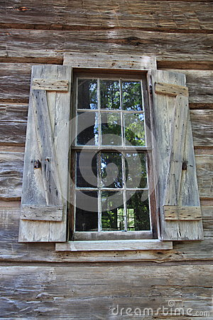Old window and shutters at Callaway Gardens