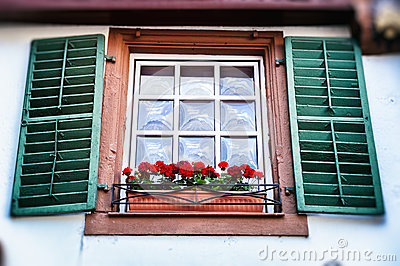 Old Window With Shutters Stock Photo Image 42150192